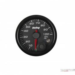 2-1/16 HOLLEY OIL PRES GAUGE-BLK