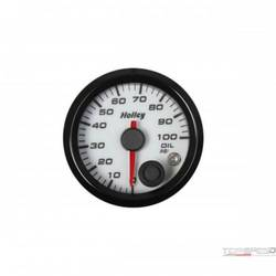 2-1/16 HOLLEY OIL PRES GAUGE-WHT