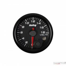 2-1/16 HOLLEY VOLT GAUGE-BLK