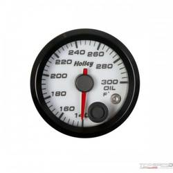 2-1/16 HOLLEY OIL TEMP GAUGE-WHT