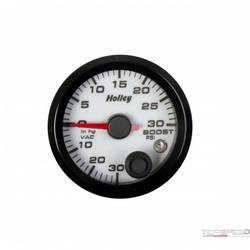 2-1/16 HOLLEY BOOST/VAC GAUGE-WHT