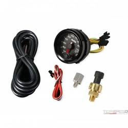 2-1/16 HOLLEY FUEL PRES GAUGE-BLK