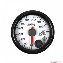 2-1/16 HOLLEY FUEL PRES GAUGE-WHT