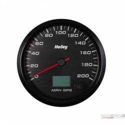 4-1/2 HOLLEY 200 GPS SPEEDO-BLK