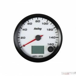 3-3/8 HOLLEY 160 GPS SPEEDO-WHT