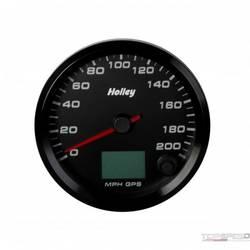 3-3/8 HOLLEY 200 GPS SPEEDO-BLK