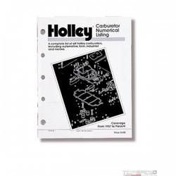 HOLLEY CARB NUM LIST (1990)