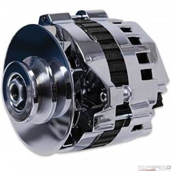 DYNAFORCE ALTERNATOR 120 AMP CHROME STRAIGHT MOUNT