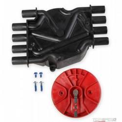 Black, Cap/Rotor Kit, GM V8 Vortec Dist