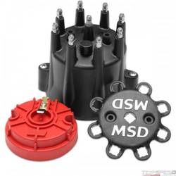 Black V8 Hei Terminal Cap/Rotor Kit