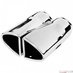 Exhaust Tip Split Oval 2pcs Weld On