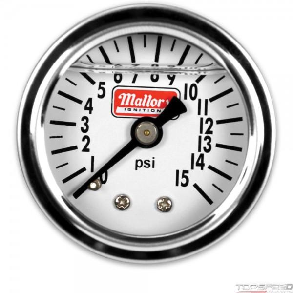 Mallory Gage Fuel Press 0-15psi Mchncl