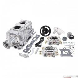 SC TVS2300 SBC NON INTERCOOLED DUAL CARB W/CARBS POLISHED