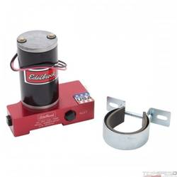 ELECTRIC FUEL PUMP CARBURATED APP 120 GPH EDELBROCK ENGRAVED RED ANODIZE FINISH
