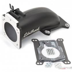 EFI INTAKE ELBOW ULTRA LOW PROFILE UNIVERSAL 90MM TB TO 4150 FLANGE LS1 W/BLK MI