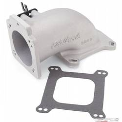 EFI INTAKE ELBOW LOW PROFILE UNIVERSAL 90MM TB TO 4150 FLANGE