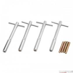 V/C HOLD DOWN KIT T-BAR 1/4-20 THREAD 5in. LONG CHROME (SET OF 4)