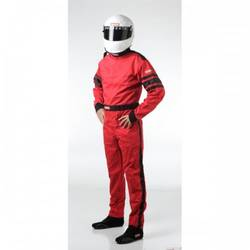 RaceQuip One Piece Single Layer Racing Driver Fire Suit, SFI 3.2A/ 1 , Red Med-Tall