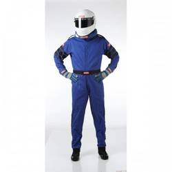 RaceQuip One Piece Single Layer Racing Driver Fire Suit, SFI 3.2A/ 1 , Blue Small