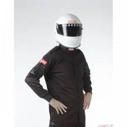 RaceQuip Single Layer Racing Driver Fire Suit Jacket, SFI 3.2A/ 1 , Black 4X-Large