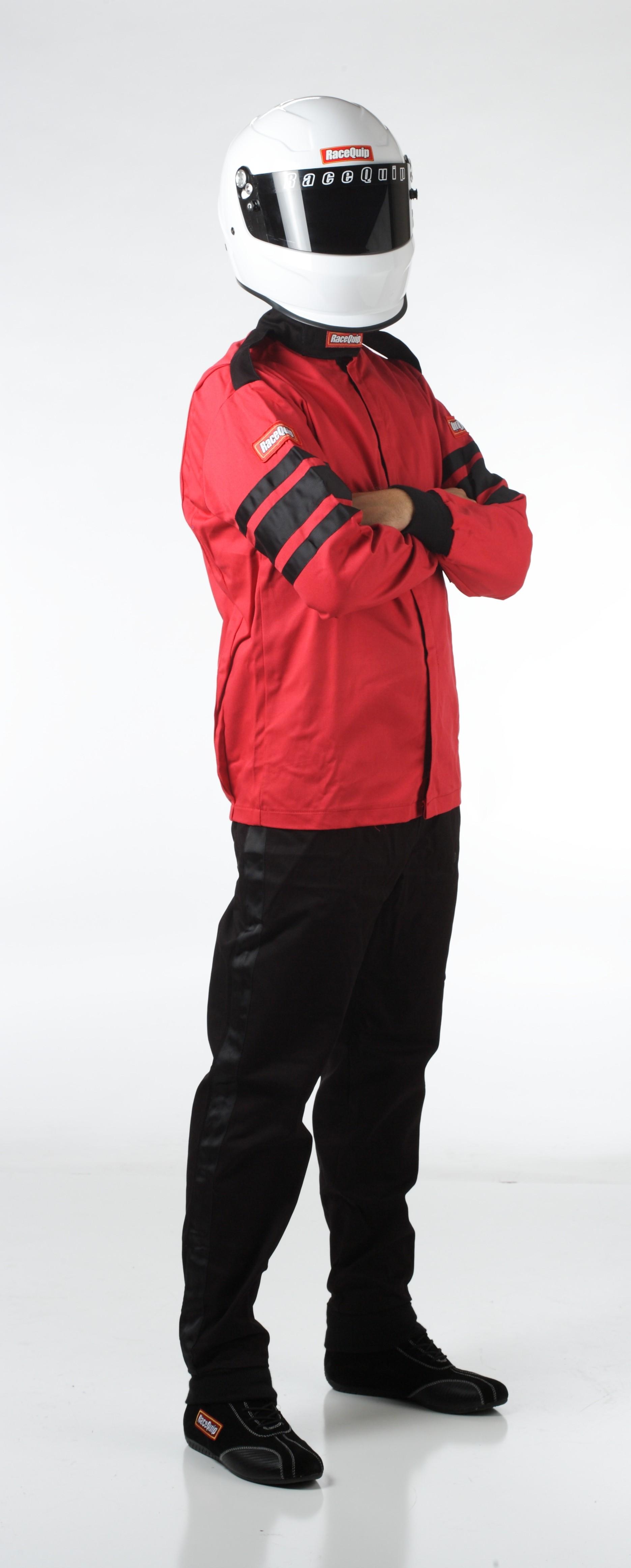 Racequip 111015 SFI-1 Single Layer Driving Jacket Red Large