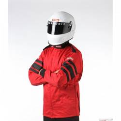 RaceQuip Multi Layer Racing Driver Fire Suit Jacket, SFI 3.2A/ 5 , Red Large