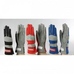 RaceQuip 351 Series 1 Layer Nomex Race Gloves SFI 3.3/ 1 Certified, Black Medium