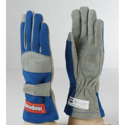 RaceQuip 351 Series 1 Layer Nomex Race Gloves SFI 3.3/ 1 Certified, Blue Large