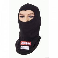 RaceQuip SFI 3.3 Fire Retardant (FR) Underwear Head Sock Balaclava / Two Layer Hood Black
