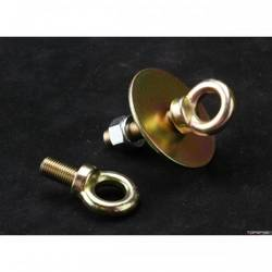 "RaceQuip Seat Belt Mounting Hardware 7/16-20 Long Eye Bolt Kit W/Washer & Nut, 1 7/8"" Long Shank, Forged, Sold Each"