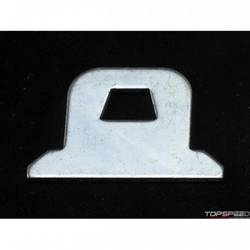 RaceQuip Window Net Mount Kit Replacement GM Style Top Tab, Zinc Plated Steel, Sold Each