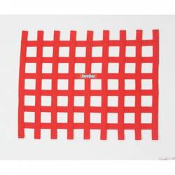 RaceQuip Ribbon Style Race Car Window Net, Red 18 H X 24 W