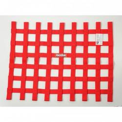 RaceQuip Ribbon Style Race Car Window Net SFI 27.1 Certified, Red 18 H X 24 W