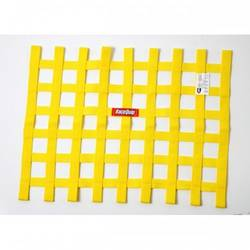 RaceQuip Ribbon Style Race Car Window Net SFI 27.1 Certified, Yellow 18 H X 24 W