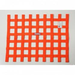 RaceQuip Ribbon Style Race Car Window Net SFI 27.1 Certified, Orange 18 H X 24 W