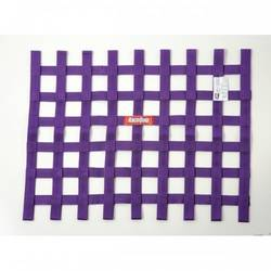 RaceQuip Ribbon Style Race Car Window Net SFI 27.1 Certified, Purple 18 H X 24 W