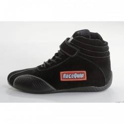 RaceQuip Euro Carbon-L Series Race Shoes SFI 3.3/ 5 Certified, Black Size 4.0