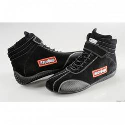 RaceQuip Euro Carbon-L Series Race Shoes SFI 3.3/ 5 Certified, Black Size 8.0