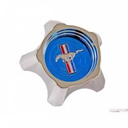 1967 STYLED STEEL HUB CAP BLUE