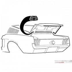 67-68 Fastback Trunk Seal
