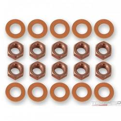 68-73 DIFF HSG NUT/WASHERS RED
