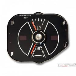 69 MUSTANG FUEL/TEMP GAUGE-BLK