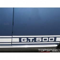 67L-8 WHT SHELBY GT500 STRIPES