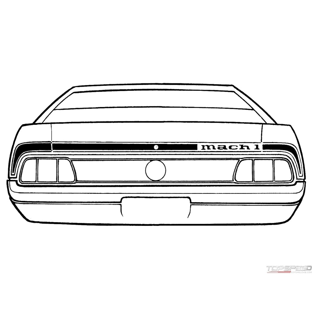 1969 Ford Mustang Mach 1 Black  Auto Refrigerator Tool Box  Magnet