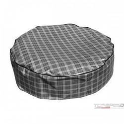 14in. TIRE COVER PLAID VINYL