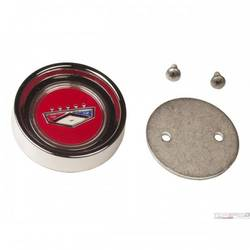 FORD CREST S/S HUBCAP - RED