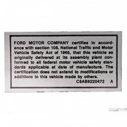 68-69 SAFETY ACT DECAL