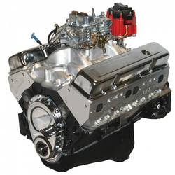 BluePrint Engines 383CI Stroker Crate Engine Small Block GM Style Dressed L-Block with Carb. Alum.Heads Roller Cam