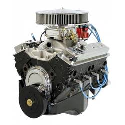BluePrint Engines 350CI Crate Engine Small Block GM Style Dressed Longblock with Carb. Iron Heads Roller Cam