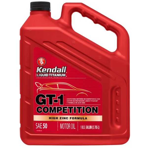 Kendall - GT-1 COMPETITION 20w/50 Oil With Liquid Titanium 1 US GAL